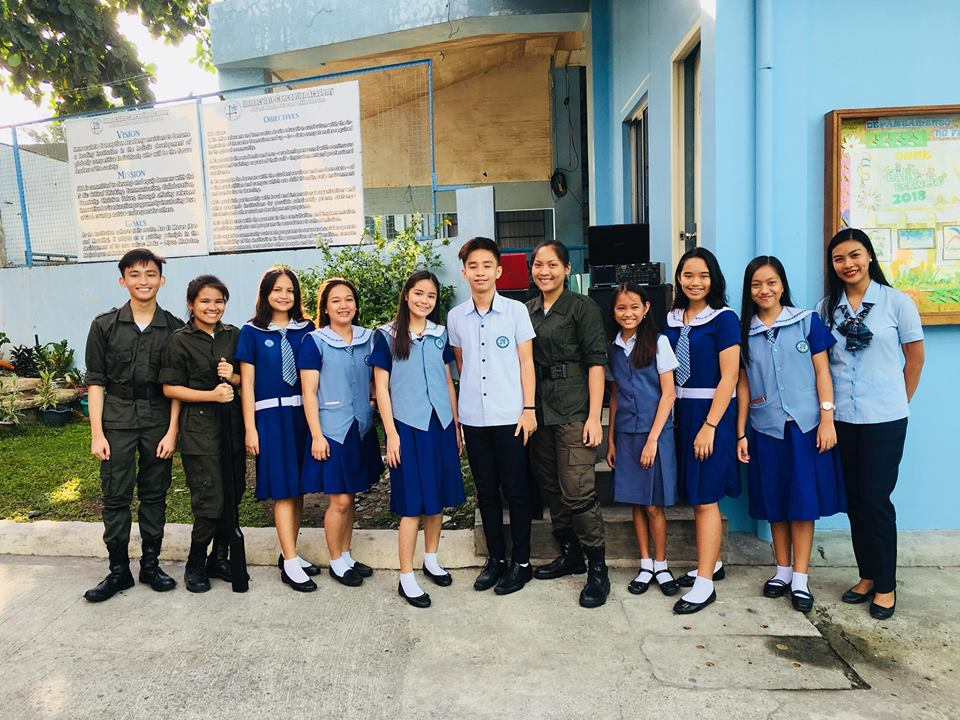 The newly elected set of SSG officers from Junior High School Department of ICA