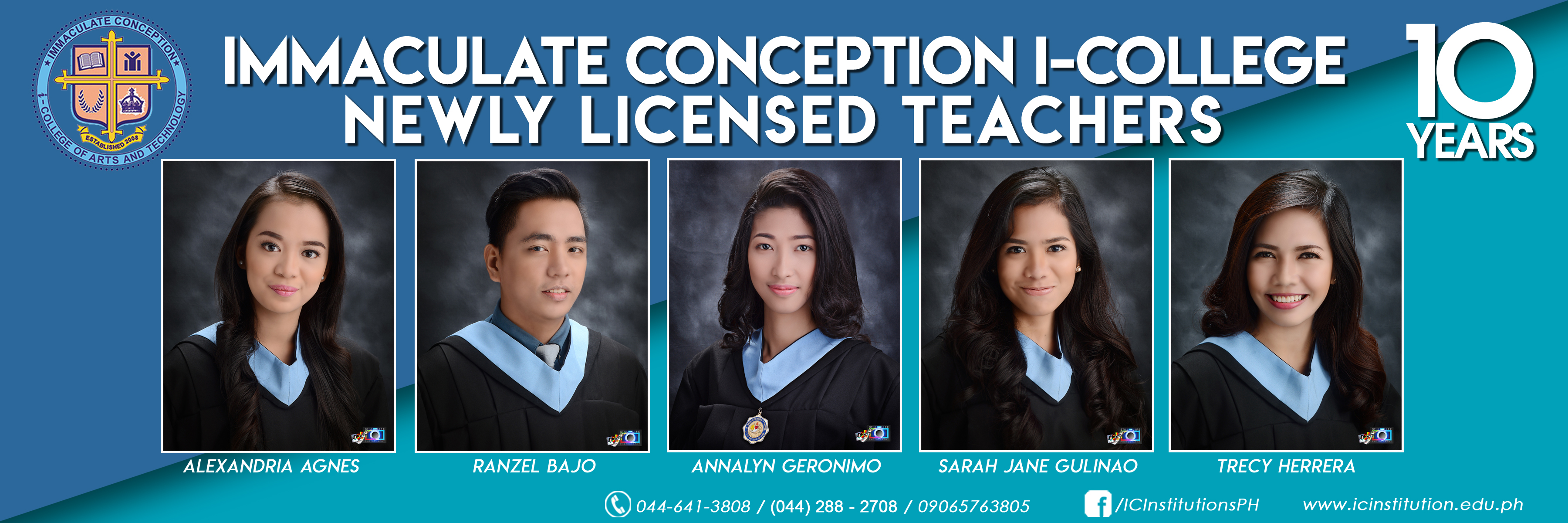Congratulations, ICI's Newly Licensed Teachers!
